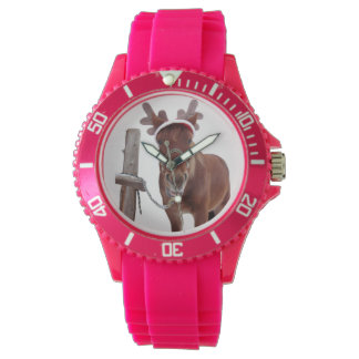 Horse deer - christmas horse - funny horse watch