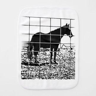 Horse design burp cloth
