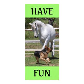 HORSE & DOG PLAY RACK CARD