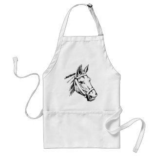 Horse Drawing Head Standard Apron