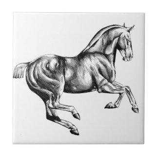 Horse drawing sketch art handmade ceramic tile