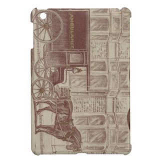 Horse drawn ambulance iPad mini covers