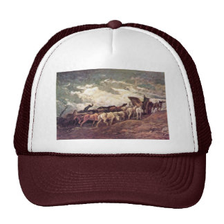 Horse-Drawn By Daumier Honoré Mesh Hat