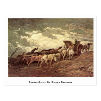 Horse-Drawn By Honore Daumier Post Cards