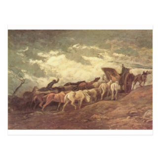 Horse drawn by Honore Daumier Postcard