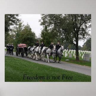 horse-drawn caisson Arlington Cemetery Poster