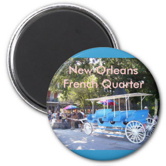 Horse Drawn Carriage 6 Cm Round Magnet