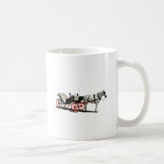 Horse Drawn Carriage Basic White Mug