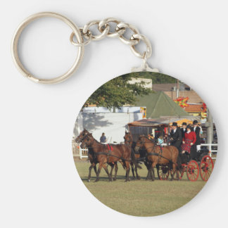 Horse Drawn Carriage Key Ring