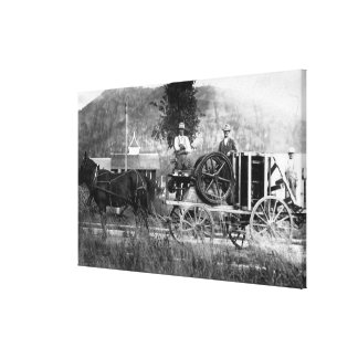 Horse Drawn Cart Gallery Wrapped Canvas
