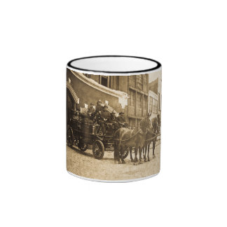 Horse Drawn Fire Engine Vintage Coffee Mug