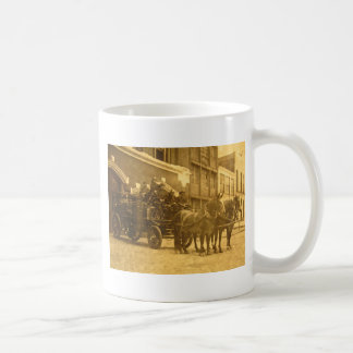 Horse Drawn Fire Engine Vintage Coffee Mugs