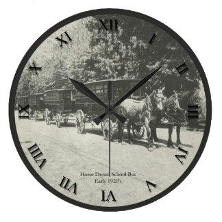 Horse Drawn School Bus Clock
