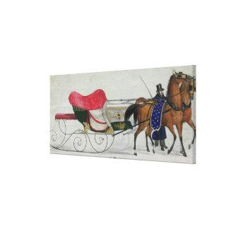 Horse Drawn Sleigh Canvas Prints
