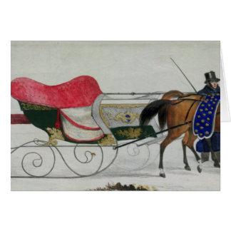 Horse Drawn Sleigh Card