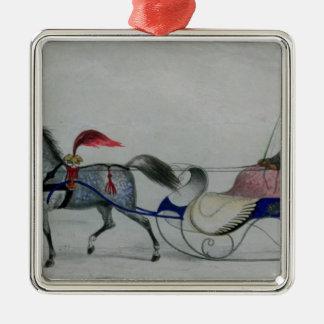 Horse Drawn Sleigh Ornaments