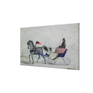 Horse Drawn Sleigh Gallery Wrap Canvas