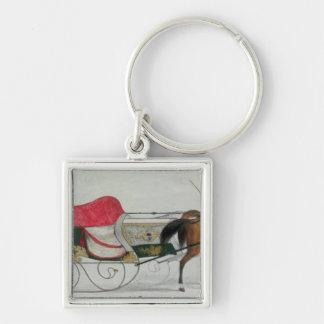 Horse Drawn Sleigh Keychain