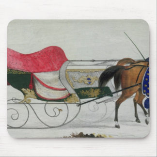 Horse Drawn Sleigh Mouse Pads