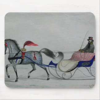 Horse Drawn Sleigh Mouse Pad
