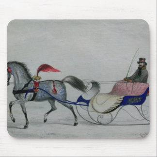 Horse Drawn Sleigh Mousepads