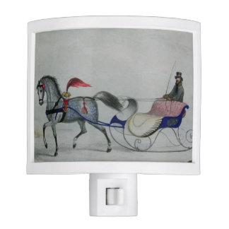 Horse Drawn Sleigh Night Light