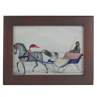 Horse Drawn Sleigh Keepsake Boxes