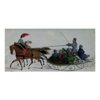 Horse Drawn Sleigh Poster