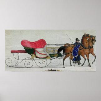 Horse Drawn Sleigh Poster