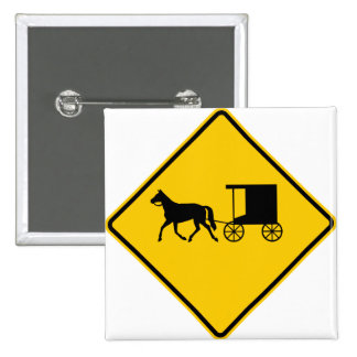 Horse-drawn Vehicle Traffic Highway Sign 15 Cm Square Badge