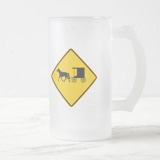 Horse-drawn Vehicle Traffic Highway Sign Mugs