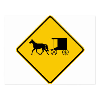 Horse-drawn Vehicle Traffic Highway Sign Postcards
