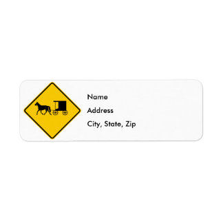 Horse-drawn Vehicle Traffic Highway Sign Return Address Label