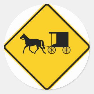 Horse-drawn Vehicle Traffic Highway Sign Sticker