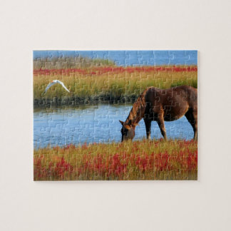 Horse Drinking Jigsaw Puzzle