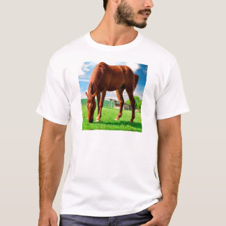 horse eating grass T-Shirt