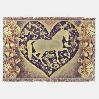 Horse Enthusiasts Throw Blanket