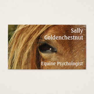Horse eye equine psychology business card