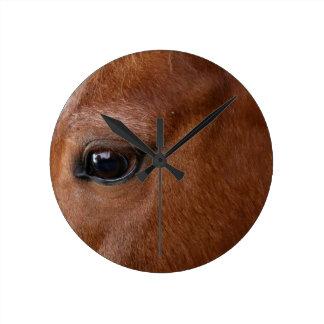 horse eye round clock