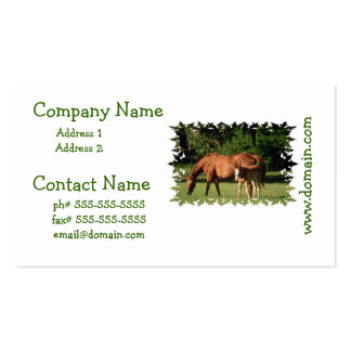 Horse Family  Business Cards