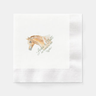 Horse Farm Wedding cocktail napkin Disposable Serviette