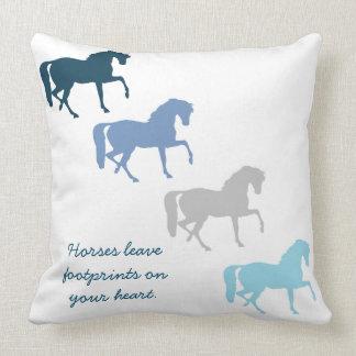 Horse Footprints Throw Pillow