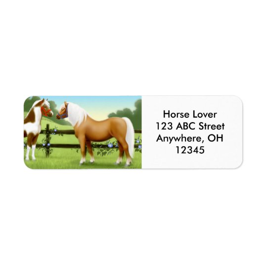 Horse Friends Label Return Address Label