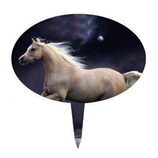 horse galloping cake pick