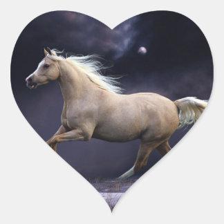 horse galloping heart sticker
