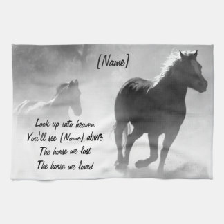 Horse Galloping Out of the Mist Hand Towels