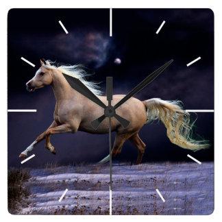 horse galloping wall clocks