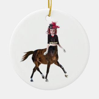 Horse Girl Ceramic Ornament