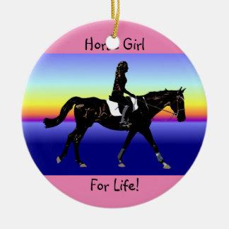 Horse Girl For Life! Ceramic Ornament