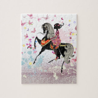 Horse Girl Jigsaw Puzzle